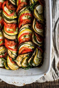 Layered Summer Ratatouille — Foraged Dish