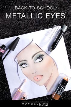 Add some serious shine to your back-to-school look with Maybelline's take on the metallic eye trend! Get the look with these four easy-to-use products for an eye look that adds sparkle and depth with Color Tattoo Crayon eyeshadow and Lash Sensational Luscious Mascara! Add to the look by contouring and highlighting with the Master Contour Stick and finishing it off with Baby Lips Moisturizing Lip Gloss.