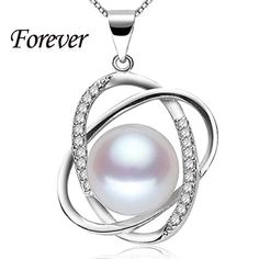 100% Forever 10-11mm Natural Pearl pendant necklace 925 silver necklace & pendant women love #sheerbliss #bestoftheday #fashion #jewelry #beautiful