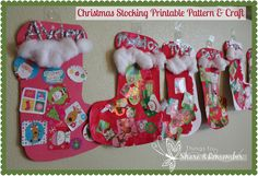 Christmas Stocking Craft & Printable Pattern