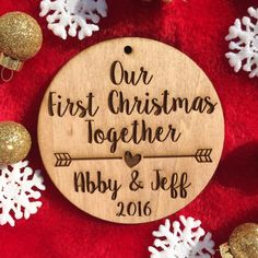 6ff1b21123cf Our First Christmas Together Ornament - Personalized Wood Ornament