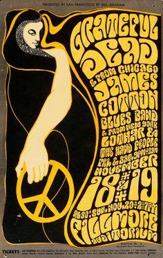 Grateful Dead/James Cotton Blues Band/Lothar & the Hand People, November 18-20, 1966 - Fillmore Auditorium (San Francisco, CA.) Art by Wes Wilson