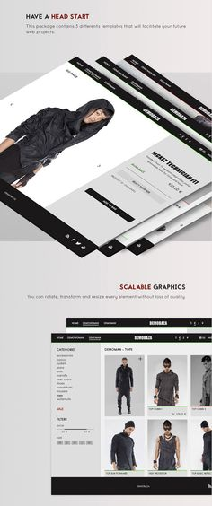 Design Your Own Clothing Store PSD