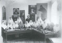 Ikon Maleri Workshop Seraphim-Diveevo kloster I slutningen af 1900-tallet. Foto. Seraphim-Diveevo Trinity kloster.