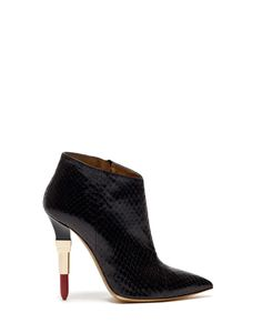 LIPSTICK 115 HIGH ANKLE BOOTS IN SNAKESKIN - Shoes Woman - Alberto Guardiani