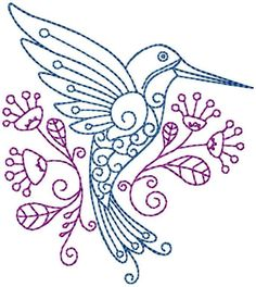Looking for your next project? You're going to love Hummingbird #10 Hand Embroidery Pattern by designer RedworkEmbroidery.