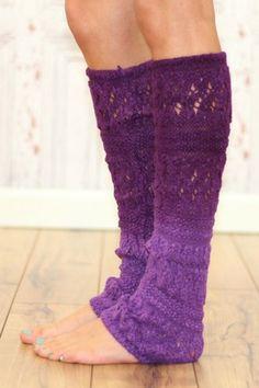 Purple Ombre Leg Warmer