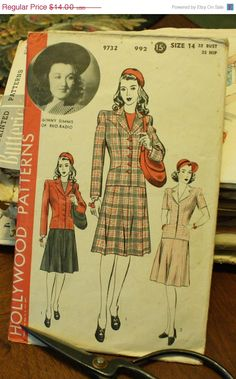 35%OffPatterns Hollywood 9732 1940s 40s by EleanorMeriwether