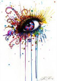 -Dead by Candy- Art Print by peegeearts Eyes Artwork, Realistic Eye Drawing, Candy Art, Eye Painting, Eye Art, Pretty Art, Cool Drawings, Creative Art, Art Sketches