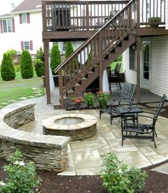 bohemian inspired patio, soycrete stained patio with water feature ... - Deck Patio Designs