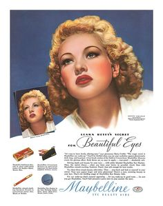 Betty Grable for Maybelline, 1940.