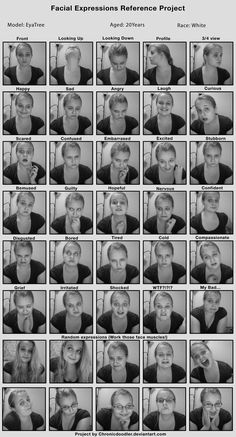 Facial Expressions Project by ~EyaTree on deviantART