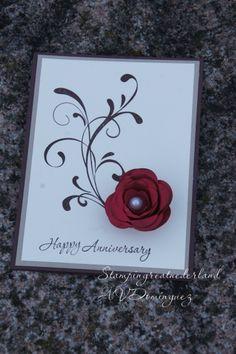 Anniversary card, Everything Eleanor, Spiral flower originals die