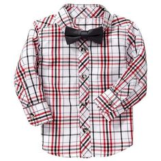 a8ae81632 Old Navy Shirt & Bowtie Sets For Baby Size 3T - Red plaid ($14)