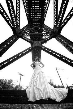 Bride by the trestle....#sudburyweddingphotographer