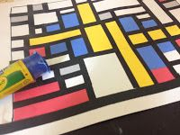 Mondrian Math: Fractions, Decimals,  Percents