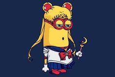 This sailor moon minion is so cute Minion Shirts, Minions Love, Minions 2014, Moon Princess, Cartoon Movies, Cartoon Crossovers, Sailor Moon Crystal, Sailor Scouts, Moon Art