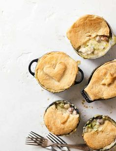 Beat the winter chill with these deliciously creamy individual chicken, leek and mushroom pot pies. Easy to make and suitable for freezing when you're in need of a quick midweek meal