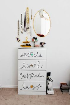 Beautiful jewelry storage ideas..