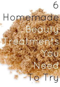 Who knew you could use brown sugar as a facial scrub?