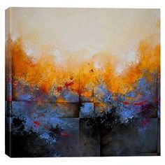 Equally at home in an artful collage or on its own as an eye-catching focal point, this lovely canvas features a textured abstract print.  Product: Canvas printConstruction Material: Canvas and woodFeatures: Reproduction of original art by CH Studios
