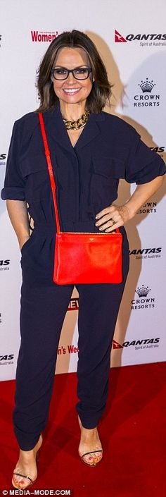 Lisa Wilkinson in a chic jumpsuit at the Women of the Future awards Lisa Wilkinson, Put On, Affair, Brave, Awards, Street Style, Chic, Jumpsuits, Rompers