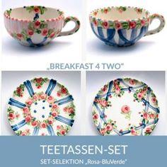 b42_teetassen_rosabluverde_sel Pink, Natural Selection, Tea Cups, Simple Lines, Tablewares