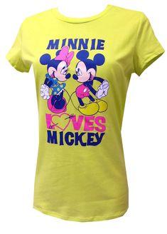 Disney Minnie Loves Mickey Tee Shirt