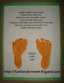 Footprint Keepsake Gift For Dad (but fix the grammar on the poem)