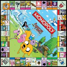 É hora de diversão com o Monopoly do Adventure Time!