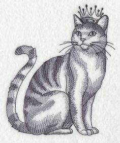Embroidered Royal Cat Kitchen Towel- Cat wearing a crown embroidered towel  Embroidered Royal Cat Kitchen Towel. Embroidered area measures3.18(w) x 3.85(h) Towel measures approx. 20in x27in . Other thread colors available. message me with your preferred color or mark in comments on order page. Treat yourself to a special dish towel to decorate your kitchen with. Or these towels make Great gifts for birthdays, Christmas gifts ,hostess gifts, housewarming gifts.    View my shop for other…