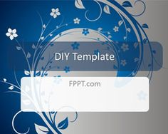 #ppt #template with flowers/leaves #background