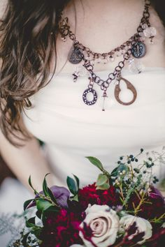 This Marsala & Gold Winter Wedding Romance is filled with warm hues of red, gold touches, delightful emerald green &cream florals & bespoke details Lake George, Touch Of Gold, Green Cream, Red Wedding, Marsala, Wedding Themes, Handmade Necklaces, Jewelry Making, Chain