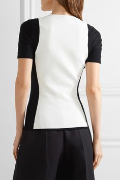 Narciso Rodriguez - Two-tone Stretch-knit Top - White