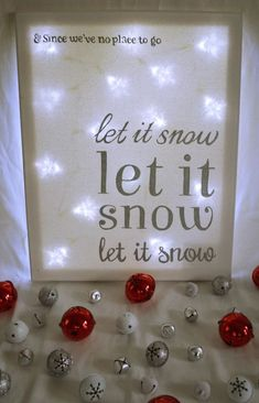 Let it Snow Canvas is creative inspiration for us. Get more photo about diy home decor related with by looking at photos gallery at the bottom of this page. We are want to say thanks if you like to share this post to another people via your facebook, pinterest, google …