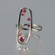 Pink ruby ring by Jen Townsend