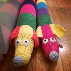 Crochet draft stoppers  https://www.facebook.com/TheWoollyMoose