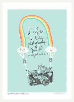 Life is like photography - Art print