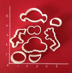 Mr. Potato Head Parts Cookie Cutters by CutterShop on Etsy, $10.00