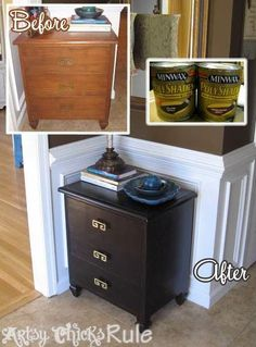 http://www.artsychicksrule.com/2013/01/super-easy-way-to-update-wood-stained.html