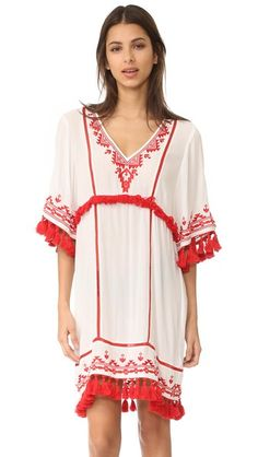 Shop Parker Parker Beach Lagoon Cover Up at Modalist Kate Spade, Seaside Style, Young Fabulous And Broke, Embroidered Tunic, Beachwear For Women, Boho Dress, Luxury Fashion, Summer Outfits, Cover Up