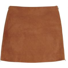 Jonathan Saunders Debbie suede mini skirt (18,810 PHP) ❤ liked on Polyvore featuring skirts, mini skirts, bottoms, saias, tan, mini skirt, short brown skirt, tan skirt, zipper mini skirt and stretch mini skirt