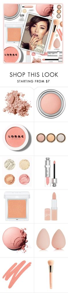 """Glow On"" by fassionista ❤ liked on Polyvore featuring beauty, Bobbi Brown Cosmetics, Christian Dior, LORAC, By Terry, RMK, Rimmel, beautyblender, NARS Cosmetics and Guerlain"