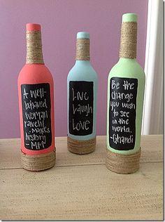 chalk wine bottle