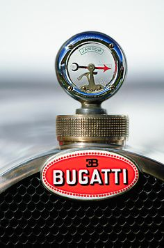 1928 Bugatti Type 44 Cabriolet Hood Ornament - Car Images by Jill Reger