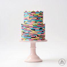 Цветные соты торт №1450 на заказ в Москве