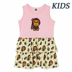 b4f03bc2 (eBay Sponsored) A BATHING APE BAPE KIDS BABY MILO JUNK FOOD TANK ONEPIECE  Dress