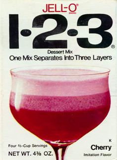 Jello 1-2-3. My Uncle George adored this stuff! Seriously he would have eaten it every day if he could.