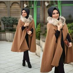 cape coat hijab style