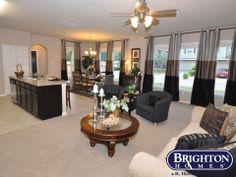 open concept living space #gray #openconcept Graham Model Home | Brighton Homes® | www.brightonhomes.com